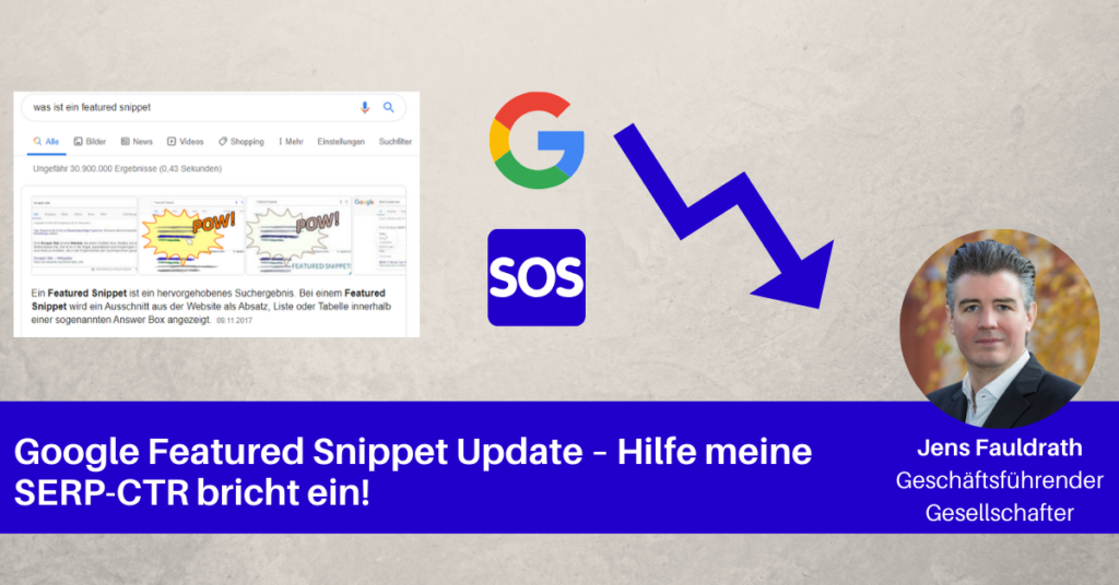 google featured snippet update blogbeitragbild