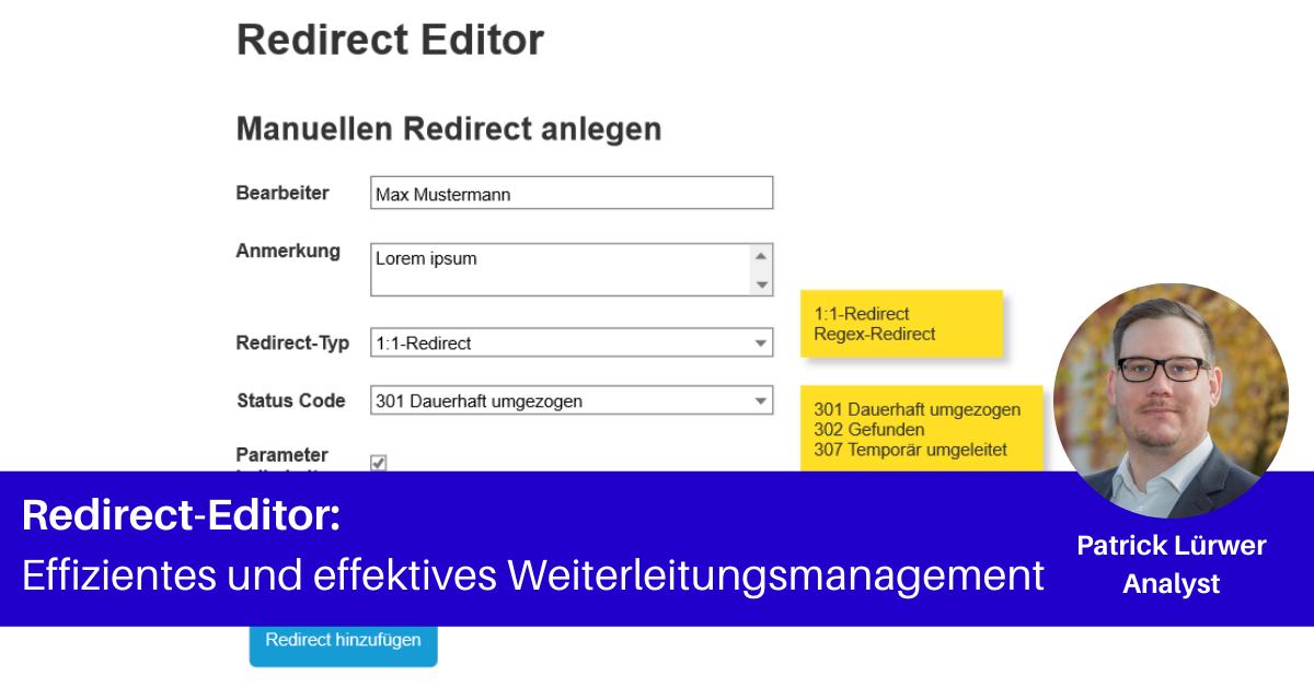 Redirect-Editor mit Patrick Lürwer
